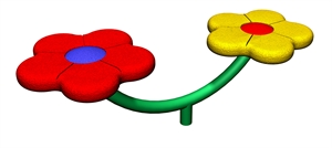 Image of 2 person flower seat
