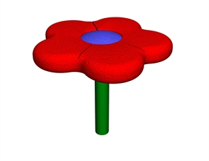 Image of single stem flower seat