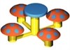Image of Mushroom Table with 4 Seats