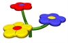 Image of 3 person flower seat